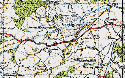 Old map of Tivy Dale in 1947