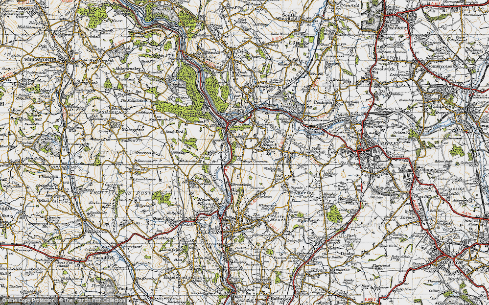 Old Map of Toadmoor, 1946 in 1946