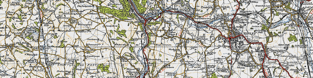 Old map of Toadmoor in 1946