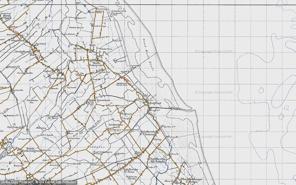 Old Map of Toby's Hill, 1946 in 1946