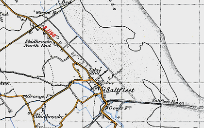 Old map of Toby's Hill in 1946