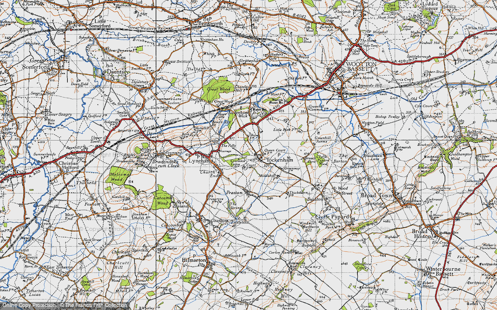 Old Map of Tockenham, 1947 in 1947