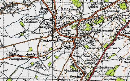 Old map of Tockington in 1946