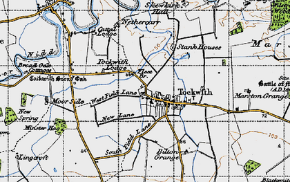 Old map of Wilstrop Wood in 1947