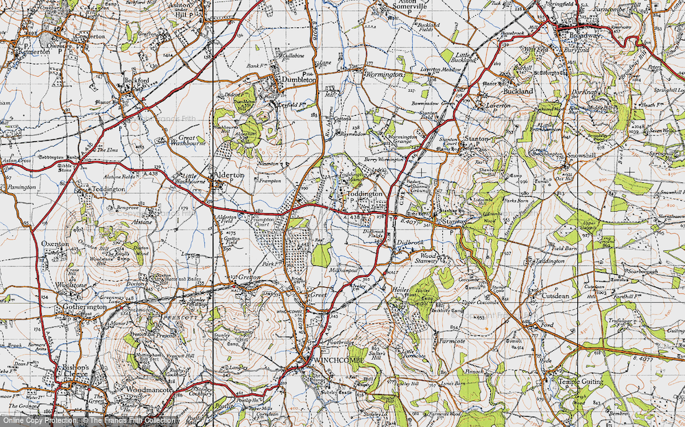 Old Map of Toddington, 1946 in 1946