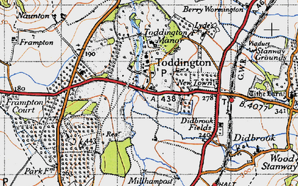 Old map of Toddington in 1946