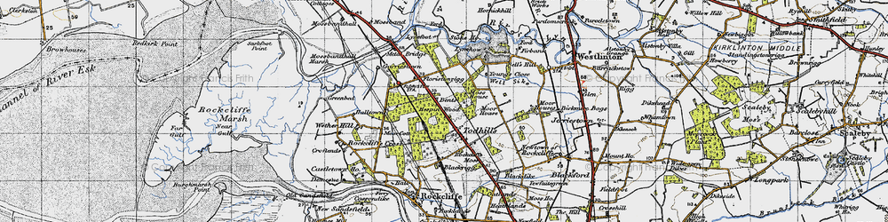 Old map of Young's Close in 1947