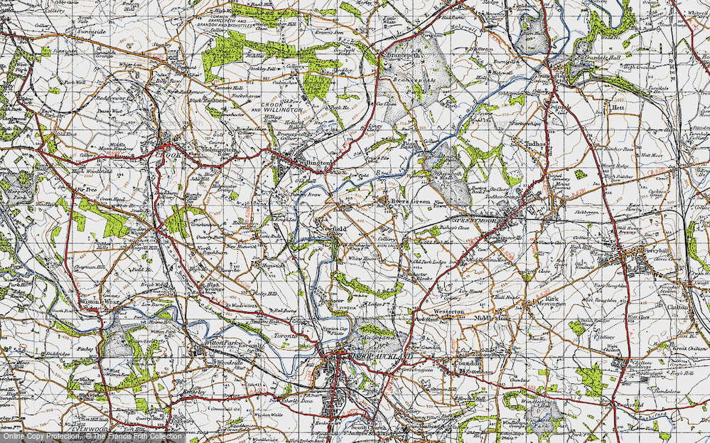 Old Map of Todhills, 1947 in 1947