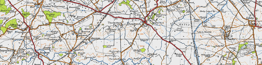 Old map of Toft in 1946