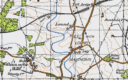 Old map of Auster Wood in 1946