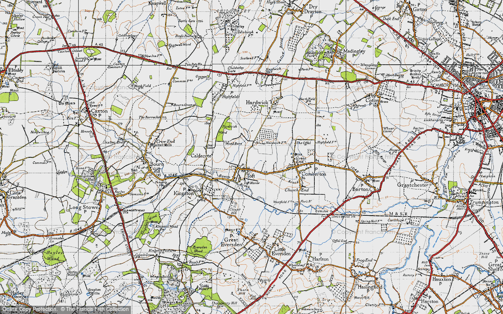Old Map of Toft, 1946 in 1946