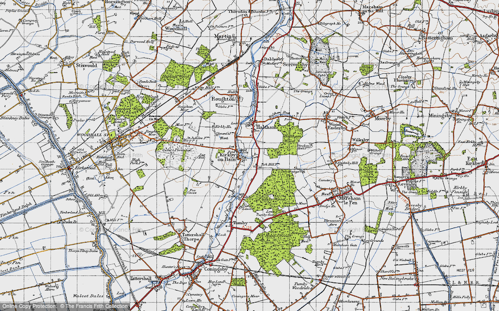 Old Map of Toft Hill, 1946 in 1946