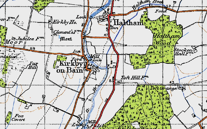 Old map of Toft Hill in 1946