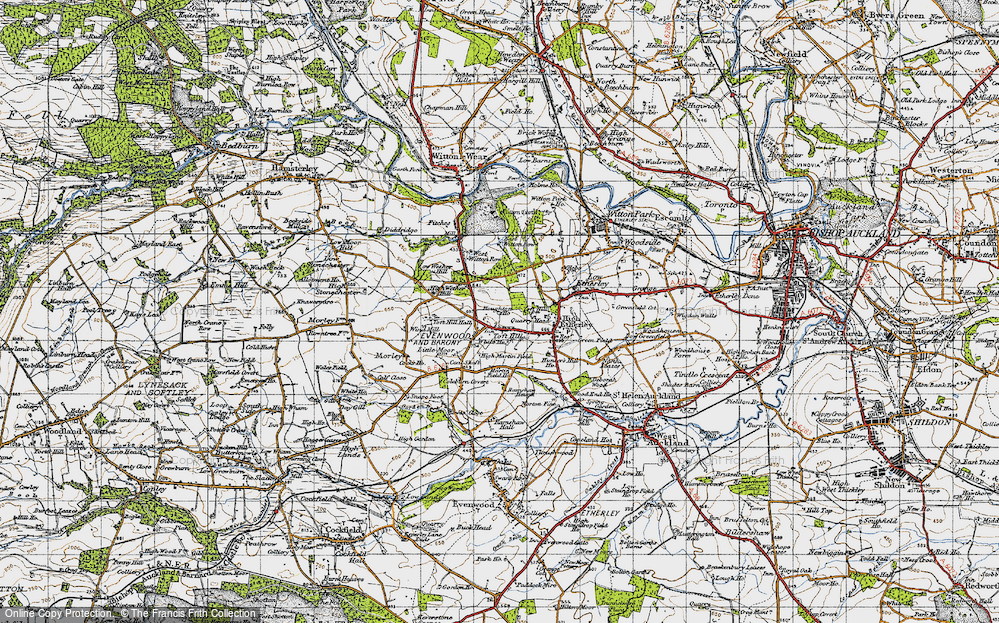 Old Map of Toft Hill, 1947 in 1947