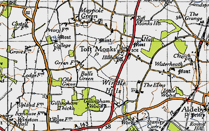 Old map of Windle Hills in 1946