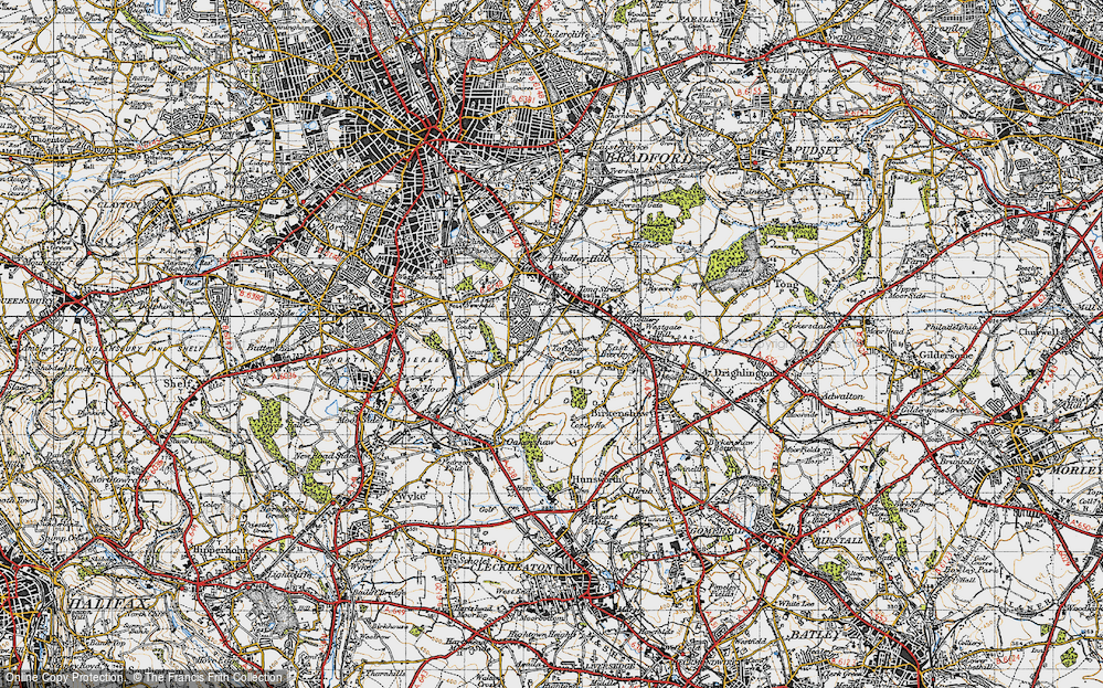 Old Map of Toftshaw, 1947 in 1947