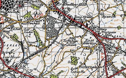 Old map of Toftshaw in 1947