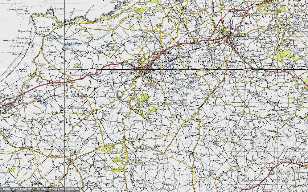 Old Map of Tolcarne, 1946 in 1946