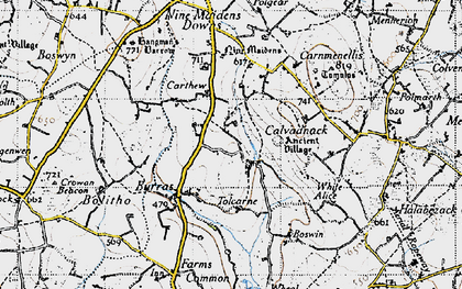 Old map of Tolcarne Wartha in 1946