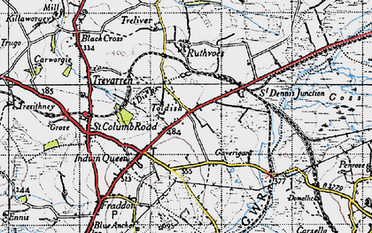 Old map of Toldish in 1946