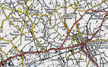 Old map of Tolgus Mount in 1946