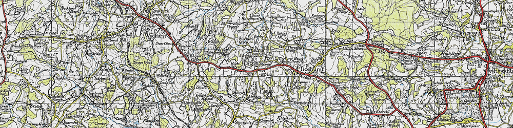 Old map of Ticehurst Ho in 1940