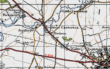 Old map of Toll Bar in 1946