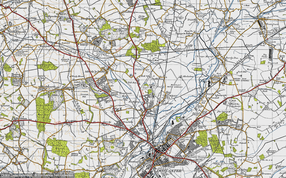 Old Map of Toll Bar, 1947 in 1947