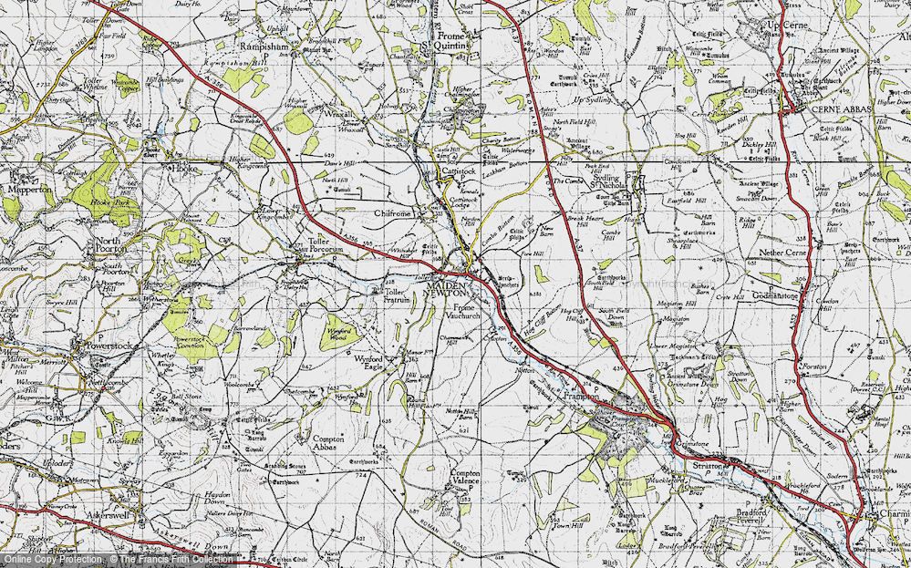 Old Map of Tollerford, 1945 in 1945
