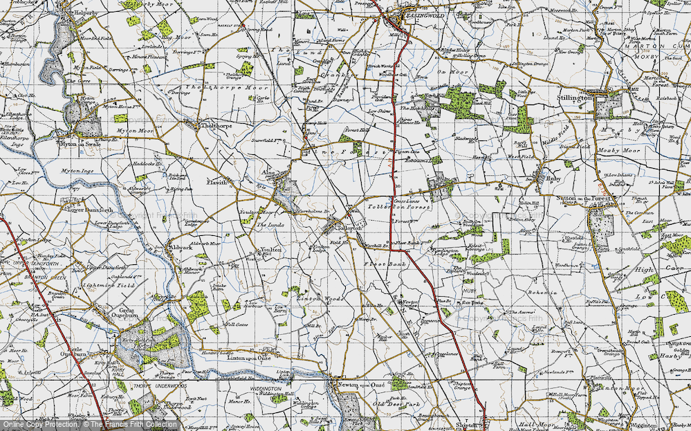 Old Map of Tollerton, 1947 in 1947