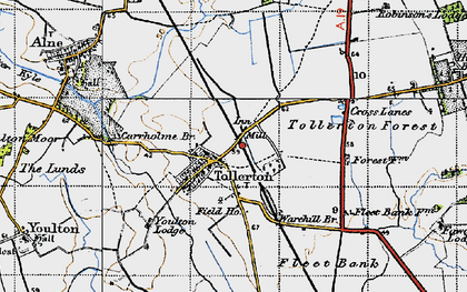 Old map of York Br in 1947