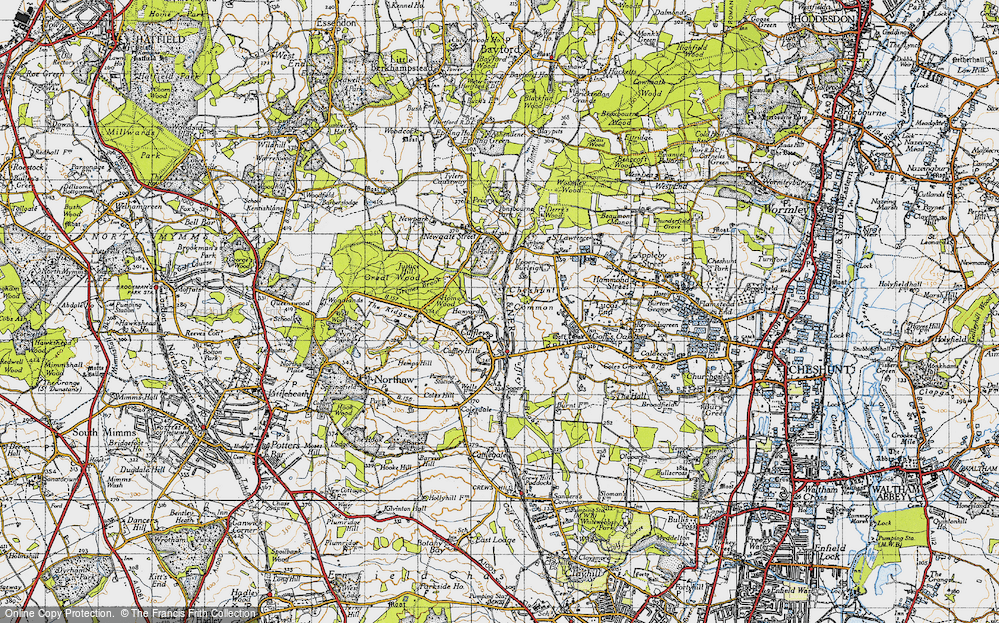 Old Map of Tolmers, 1946 in 1946