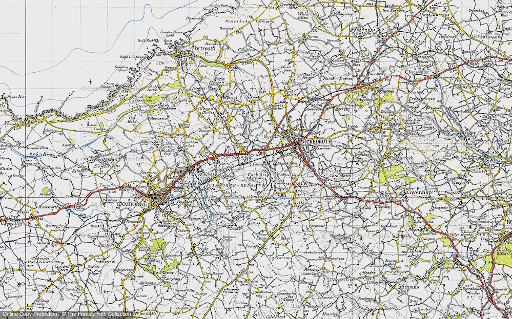 Old Map of Tolskithy, 1946 in 1946