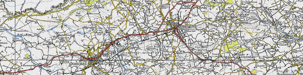 Old map of Tolskithy in 1946