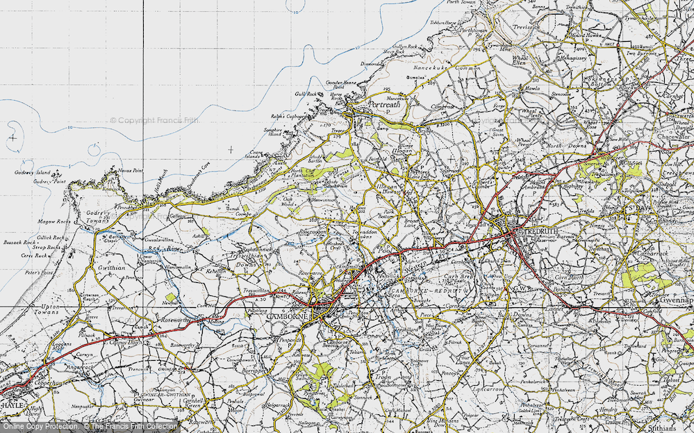 Old Map of Tolvaddon Downs, 1946 in 1946