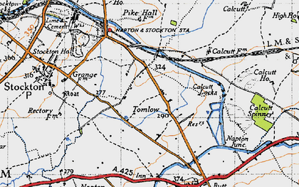 Old map of Tomlow in 1946