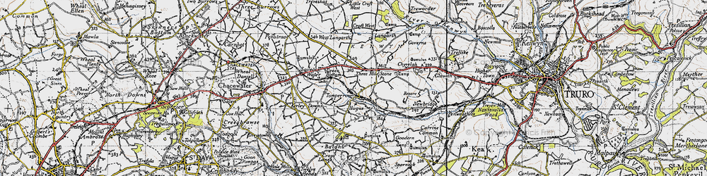 Old map of Tomperrow in 1946