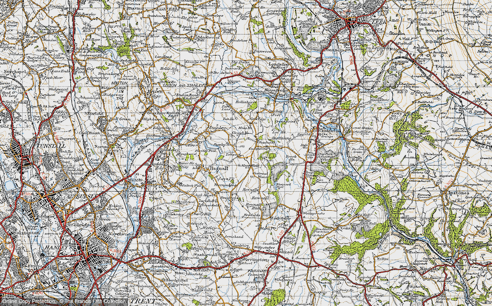 Old Map of Tompkin, 1946 in 1946