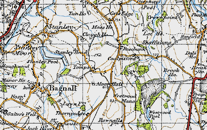 Old map of Tompkin in 1946