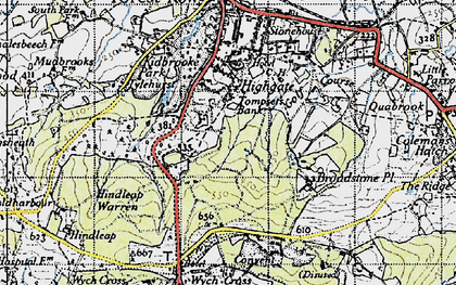 Old map of Tompset's Bank in 1940