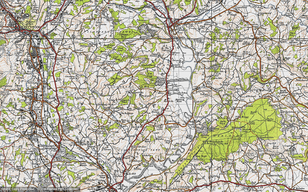 Old Map of Ton, 1946 in 1946