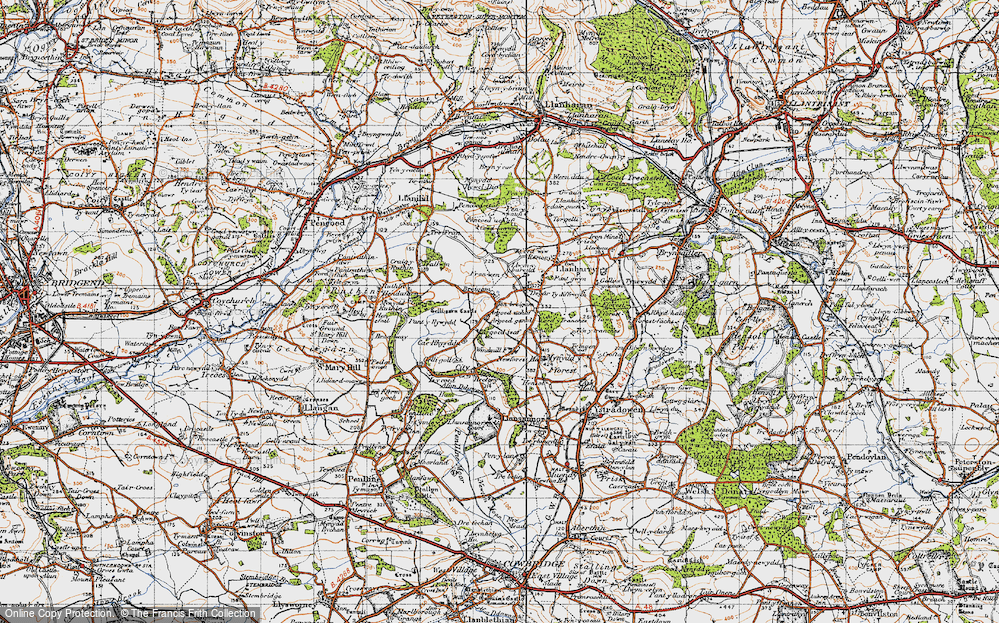 Old Map of Ton Breigam, 1947 in 1947