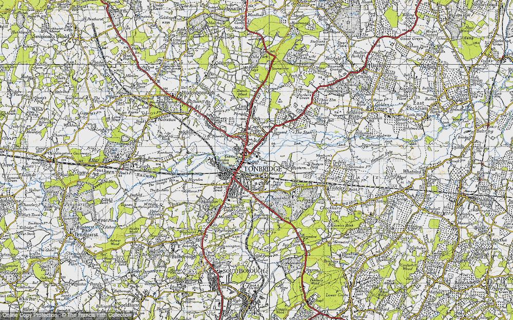 Old Map of Tonbridge, 1946 in 1946