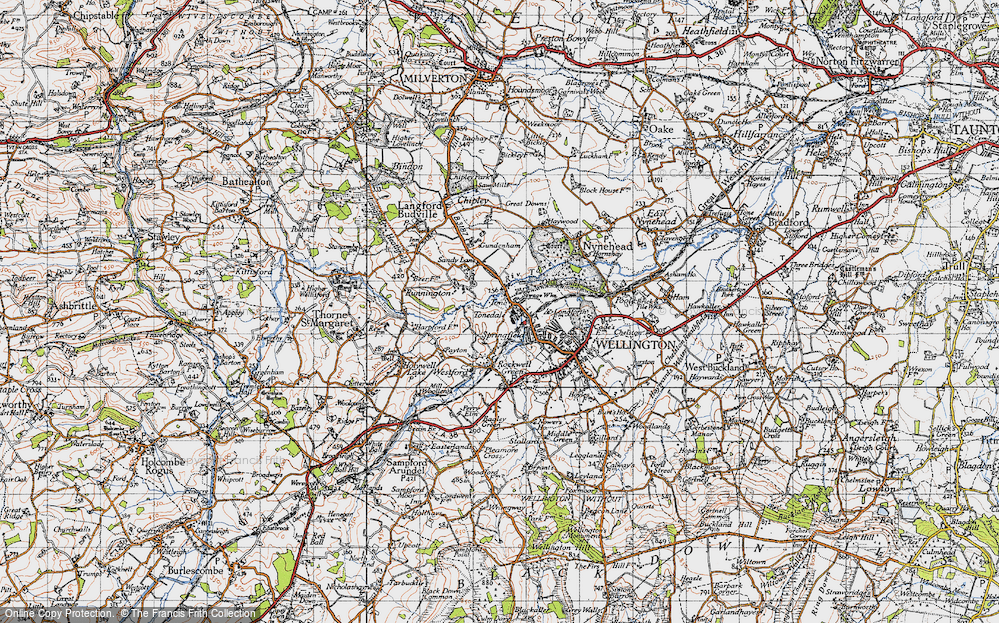 Old Map of Tone, 1946 in 1946