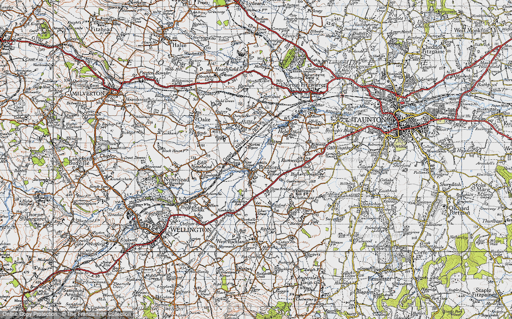 Old Map of Tone Green, 1946 in 1946