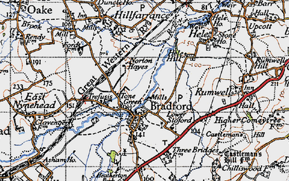 Old map of Tone Green in 1946