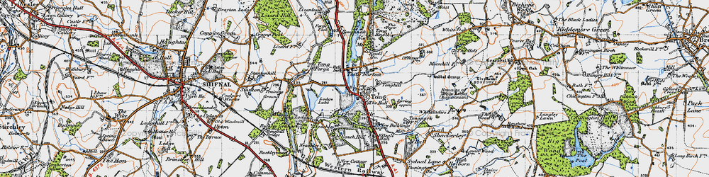 Old map of Tong Lodge in 1946
