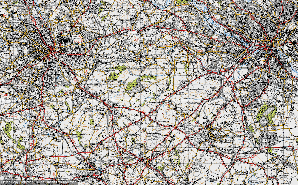 Old Map of Tong, 1947 in 1947