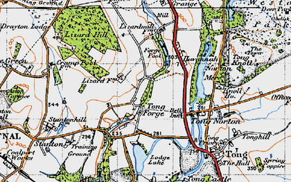 Old map of Tong Forge in 1946