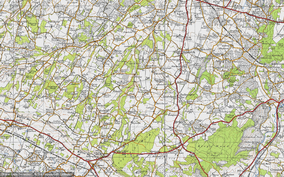 Old Map of Tong Green, 1946 in 1946